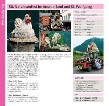 50. Narzissenfest im Ausseerland und St. Wolfgang - Taferner