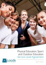 Physical Education, Sport and Outdoor Education - Leeds PE TV