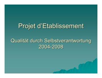 Projet d'Etablissement - Lycée Technique Joseph Bech