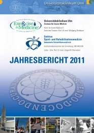 JAHRESBERICHT 2011 - Universitätsklinikum Ulm