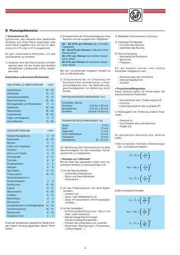 Planungshinweise - Soler & Palau