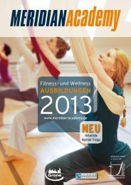Aus- und Fortbildungsangebot 2013 - Meridian Academy