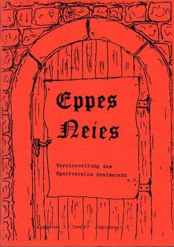 """EPPES NEIES"" Ausgabe Nr. 3 - SV Greimerath"