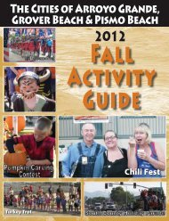 Fall 2012 Activity Guide - City of Arroyo Grande