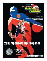 2010 Sponsorship Proposal - Broome County