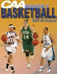 2007-08 CAA Women's Basketball Preview - Colonial Athletic ...