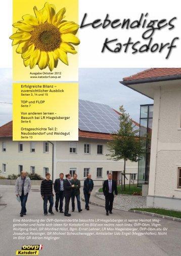 "ÖVP-Zeitung ""Lebendiges Katsdorf"" Oktober 2012 - oevp katsdorf ..."
