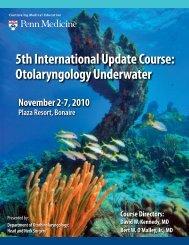 Otolaryngology Underwater - Penn Medicine - University of ...