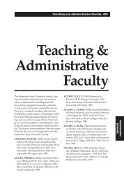 Teaching & Administrative Faculty - Kennesaw State University