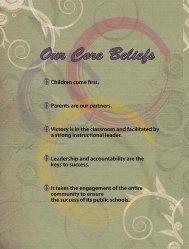 Our Core Beliefs - The School District of Philadelphia