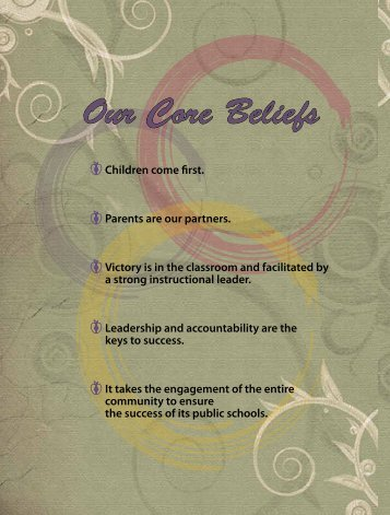 Our Core Beliefs - The School District of Philadelphia