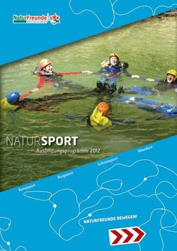 NaturSport-Ausbildungsprogramm 2012 - NaturFreunde Deutschlands