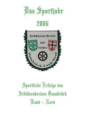 Das Sportjahr 2006 - Schützenkreis Osnabrück Land-Nord
