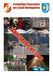 JAHRESBERICHT 2010 - Freiwillige Feuerwehr Mattighofen
