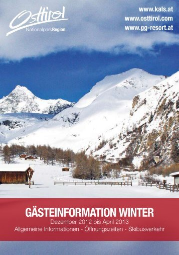 Download Gaesteinformation Winter 2012/2013 - Kals am ...