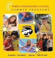 summer programs - Tampa Preparatory School