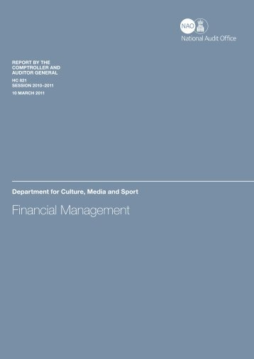 Department for Culture, Media and Sport Financial Management HC ...