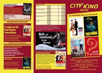 Unser Programm vom 26.02. bis 04.03.09 - Cineprog