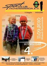 9. Ausgabe 06/2010 - Sportclub Hoyerswerda eV