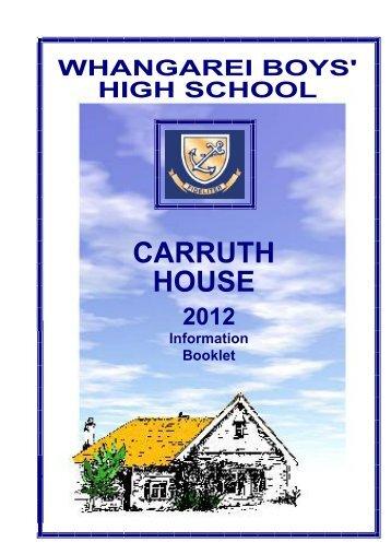 Carruth House Bookle.. - Whangarei Boys