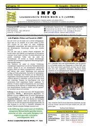 Dezember 2012 INFO - Leukämiehilfe RHEIN-MAIN geV
