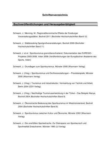 Schriftenverzeichnis Buchveröffentlichungen und ... - Bocholt