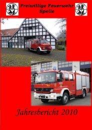 Jahresbericht 2010 - Feuerwehr Spelle