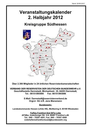 Veranstaltungskalender 2. Halbjahr 2012 - Res-Info.de