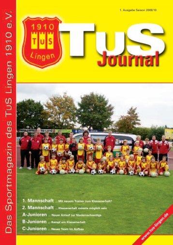 Journal Saison 2009-10 (Teil 1) - TuS Lingen