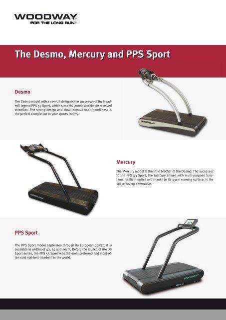 The Unique WOODWAY Slat-belt Treadmill ... - Medical Tech Oy