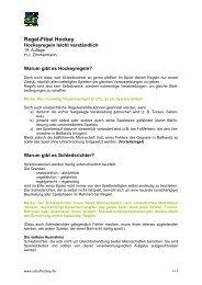 Hockeyregeln leicht verständlich - Deutscher Hockey Bund e.V.