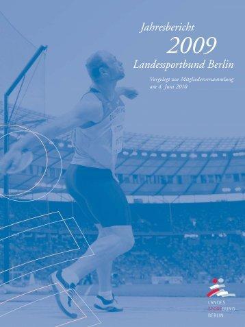 LSB-Jahresbericht 2009 - Landessportbund Berlin