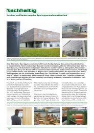 Nachhaltig - Neubau und Sanierung des Sportgymnasiums Oberhof