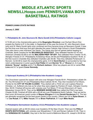 Middle Atlantic Sports News LLHoops.com ... - e-PA Sports