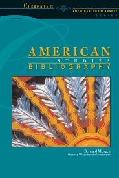 American Studies Bibliography - Embassy of the United States ...