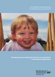 Umsetzung der Gesundheitsziele für Kinder und Jugendliche in