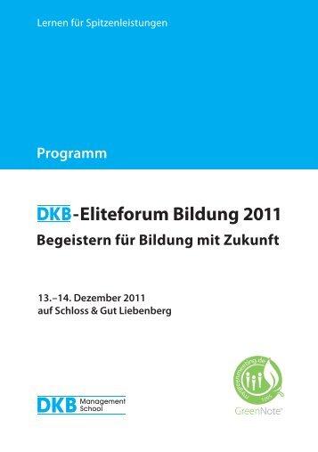 -Eliteforum Bildung 2011 - DKB Management School