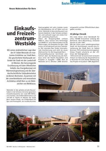 Einkaufs- und Freizeit- zentrum- Westside - Robe Verlag