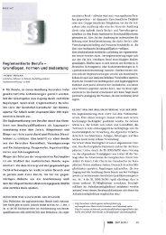 Reglementierte Berufe - Grundlagen, Formen und Bedeutung
