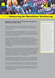 Outsourcing der Mannheimer Versicherung - Raiffeisen Informatik ...