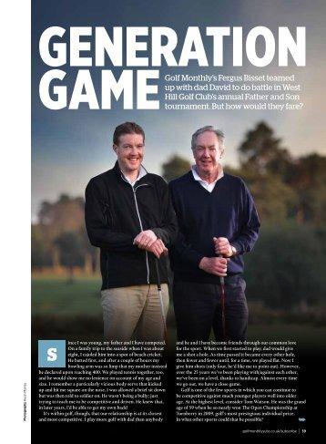 GAMEGolf Monthly's Fergus Bisset teamed up with dad David to do ...