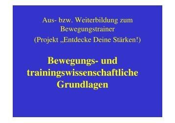 Bewegungs- und trainingswissenschaftliche Grundlagen - 5toair.de