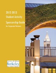 2012-2013 Student Activity Sponsorship Guide - Haas School of ...