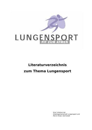 Literaturverzeichnis zum Thema Lungensport