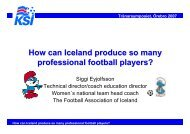 How can Iceland produce so many professional football players?