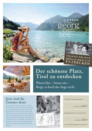Wasser Klar – Sonne Satt - Hotel St. Georg zum See
