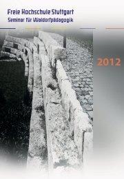Berichtsheft 2012 herunterladen - Freie Hochschule Stuttgart