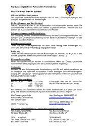 Checkliste Unterlagen - Freiensteinau
