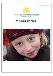 Monatsbrief Januar 2009 - Freie Waldorfschule Wolfratshausen