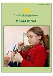 Monatsbrief April 2009 - Freie Waldorfschule Wolfratshausen